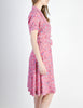 Vintage 1940s Pink Floral Dress - Amarcord Vintage Fashion  - 5