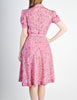 Vintage 1940s Pink Floral Dress - Amarcord Vintage Fashion  - 7