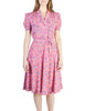 Vintage 1940s Pink Floral Dress - Amarcord Vintage Fashion  - 1