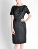 Vintage 1960s Black Classic Ribbed Wiggle Dress - Amarcord Vintage Fashion  - 4