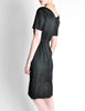 Vintage 1960s Black Classic Ribbed Wiggle Dress - Amarcord Vintage Fashion  - 6