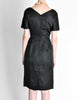 Vintage 1960s Black Classic Ribbed Wiggle Dress - Amarcord Vintage Fashion  - 7