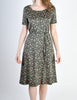 Vintage 1970s Black Floral Cotton Dress - Amarcord Vintage Fashion  - 2