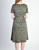 Vintage 1970s Black Floral Cotton Dress - Amarcord Vintage Fashion  - 5