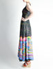 Vintage 1970s Colorful Psychedelic Water Lily Maxi Dress - Amarcord Vintage Fashion  - 7