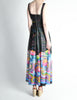 Vintage 1970s Colorful Psychedelic Water Lily Maxi Dress - Amarcord Vintage Fashion  - 8