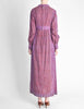 Vintage 1970s Purple Indian Block Print Maxi Dress - Amarcord Vintage Fashion  - 5