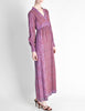 Vintage 1970s Purple Indian Block Print Maxi Dress - Amarcord Vintage Fashion  - 3