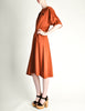 Vintage 1970s Rust Orange Black Mesh Shirt Dress - Amarcord Vintage Fashion  - 4