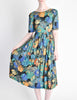 Vivien Smith Vintage Floral Print Cotton Dress - Amarcord Vintage Fashion  - 5
