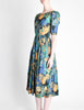 Vivien Smith Vintage Floral Print Cotton Dress - Amarcord Vintage Fashion  - 4