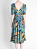 Vivien Smith Vintage Floral Print Cotton Dress - Amarcord Vintage Fashion  - 6