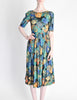 Vivien Smith Vintage Floral Print Cotton Dress - Amarcord Vintage Fashion  - 2
