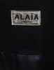 Alaïa Vintage Black Wool Double Breasted Coat - Amarcord Vintage Fashion  - 9