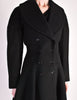 Alaïa Vintage Black Wool Double Breasted Coat - Amarcord Vintage Fashion  - 7
