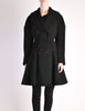 Alaïa Vintage Black Wool Double Breasted Coat - Amarcord Vintage Fashion  - 3