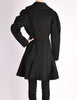 Alaïa Vintage Black Wool Double Breasted Coat - Amarcord Vintage Fashion  - 8