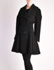 Alaïa Vintage Black Wool Double Breasted Coat - Amarcord Vintage Fashion  - 2