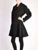 Alaïa Vintage Black Wool Double Breasted Coat - Amarcord Vintage Fashion  - 4
