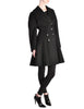 Alaïa Vintage Black Wool Double Breasted Coat - Amarcord Vintage Fashion  - 1