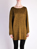 Alaïa Vintage Brown Gold Oversized Tunic Sweater - Amarcord Vintage Fashion  - 2