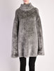 Alaïa Vintage Grey Fuzzy Oversized Turtleneck Sweater - Amarcord Vintage Fashion  - 5