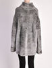 Alaïa Vintage Grey Fuzzy Oversized Turtleneck Sweater - Amarcord Vintage Fashion  - 7