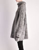 Alaïa Vintage Grey Fuzzy Oversized Turtleneck Sweater - Amarcord Vintage Fashion  - 3