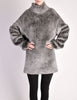 Alaïa Vintage Grey Fuzzy Oversized Turtleneck Sweater - Amarcord Vintage Fashion  - 6