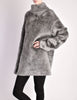 Alaïa Vintage Grey Fuzzy Oversized Turtleneck Sweater - Amarcord Vintage Fashion  - 4