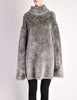 Alaïa Vintage Grey Fuzzy Oversized Turtleneck Sweater - Amarcord Vintage Fashion  - 2