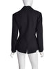 Alaia Vintage Black Wool Tailored Panel Blazer Jacket