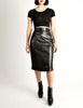 Alaïa Vintage Black Leather Pencil Skirt - Amarcord Vintage Fashion  - 4