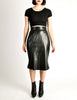 Alaïa Vintage Black Leather Pencil Skirt - Amarcord Vintage Fashion  - 2