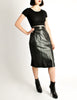 Alaïa Vintage Black Leather Pencil Skirt - Amarcord Vintage Fashion  - 3