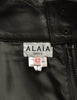 Alaïa Vintage Black Leather Pencil Skirt - Amarcord Vintage Fashion  - 7