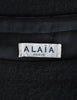 Alaïa Vintage Black Wool Sack Grommet Dress - Amarcord Vintage Fashion  - 10