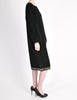 Alaïa Vintage Black Wool Sack Grommet Dress - Amarcord Vintage Fashion  - 8