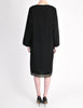 Alaïa Vintage Black Wool Sack Grommet Dress - Amarcord Vintage Fashion  - 9