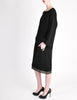 Alaïa Vintage Black Wool Sack Grommet Dress - Amarcord Vintage Fashion  - 7