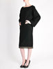 Alaïa Vintage Black Wool Sack Grommet Dress - Amarcord Vintage Fashion  - 5