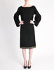 Alaïa Vintage Black Wool Sack Grommet Dress - Amarcord Vintage Fashion  - 6