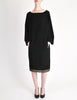 Alaïa Vintage Black Wool Sack Grommet Dress - Amarcord Vintage Fashion  - 3
