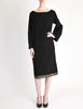 Alaïa Vintage Black Wool Sack Grommet Dress - Amarcord Vintage Fashion  - 4