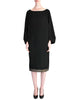 Alaïa Vintage Black Wool Sack Grommet Dress - Amarcord Vintage Fashion  - 1
