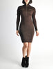 Alaïa Vintage Brown Stretch Knit Body Con Dress - Amarcord Vintage Fashion  - 3