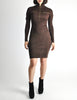 Alaïa Vintage Brown Stretch Knit Body Con Dress - Amarcord Vintage Fashion  - 2