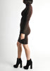 Alaïa Vintage Brown Stretch Knit Body Con Dress - Amarcord Vintage Fashion  - 4