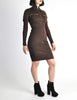 Alaïa Vintage Brown Stretch Knit Body Con Dress - Amarcord Vintage Fashion  - 5