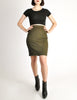 Alaïa Vintage Iconic Olive Green Stretch Skirt - Amarcord Vintage Fashion  - 3